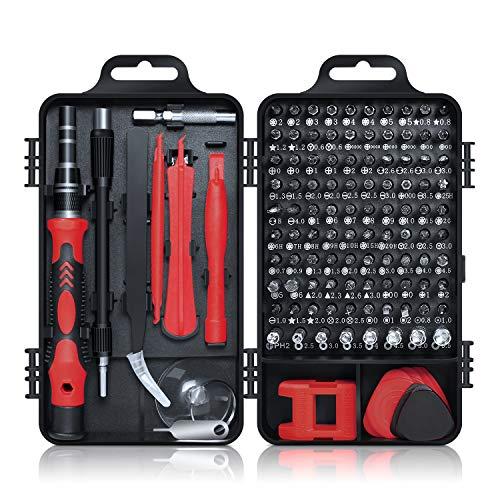 Gocheer Präzisions Schraubendreher Set, 115 in 1 Mini Feinmechaniker Reparatur Werkzeug Set für Elektronik, Smartphone,Laptop, PC, Konsolen, Kamera, Uhrenel