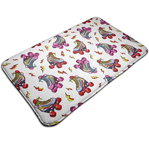 N/A Kleurrijke rolschaatsen, drukdeurmat, badmat, ingangsmat, vloermat, tapijt voor binnen en buiten