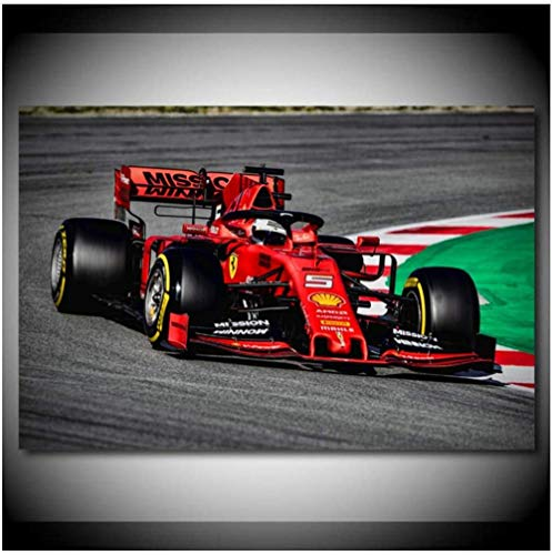 VGSD On Track F1 Sport Cars Cartel E Impresión, Raceway Modern Canvas Paintings, Wall Art Picture For Living Room Decor60X80Cm