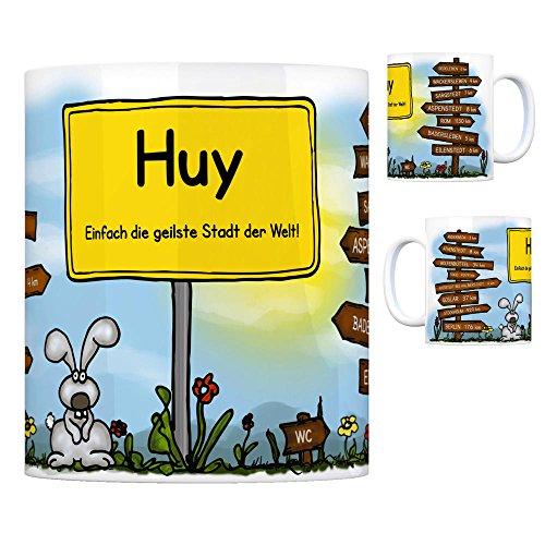 Huy - Einfach die geilste Stadt der Welt Kaffeebecher Tasse Kaffeetasse Becher Mug Teetasse Büro Stadt-Tasse Städte-Kaffeetasse Lokalpatriotismus Spruch kw Goslar Dedeleben Anderbeck Athenstedt