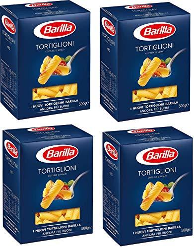 Barilla Tortiglioni 2 Kg - Grießnudeln mit Hochwertigen Zutaten, um Immer gut zu Sein - Tägliche unwiderstehliche Güte - Packung 2 kg - 4 x 500 g (Tortiglioni)