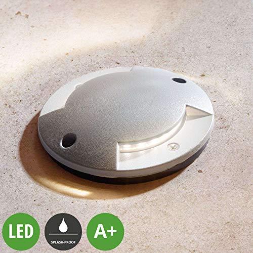 Lindby LED Bodeneinbauleuchte 'Nandita' (Modern) in Alu aus Aluminium (1 flammig, A+, inkl. Leuchtmittel) - Außenleuchte für Garten, Terasse, Balkon & Haus