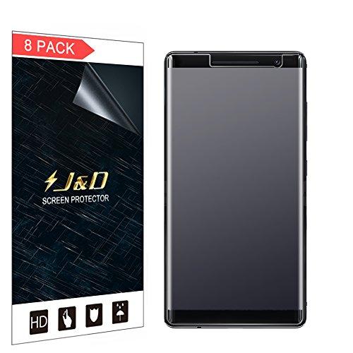JD Compatibile per 8 Confezioni Nokia 8 Sirocco Protezione Schermo, [Anti-riflesso] [Anti-Impronte] [Non Piena Copertura] Premium Matte Pellicola Protettiva per Nokia 8 Sirocco
