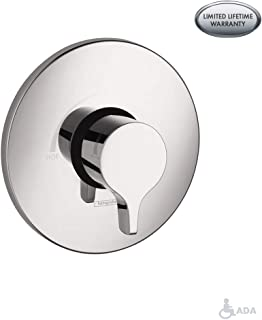 hansgrohe 4355000 S/E Pressure Balanced Valve Trim w/Integrated Volume Control, Chrome