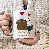 N\A Tazza da caffè Sushi e Salsa di soia You Are My Soymate Cute Kawaii Mug Best Friends, 11oz