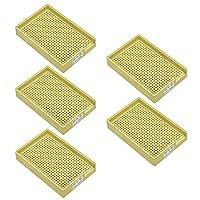 帯電防止ネジトレイ、プラスチックネジトレイホルダー1.0mm-1.5mm(黄色、5PCS)