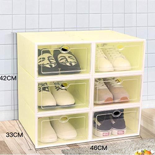 Lucky as you 6X plástico Transparente sty sobre Las Cajas cajón Plegable extraíble Bien Alargado Ed Iores Hombres SAAR Caso 6 Piezas Whiteframefruitgreenlarge