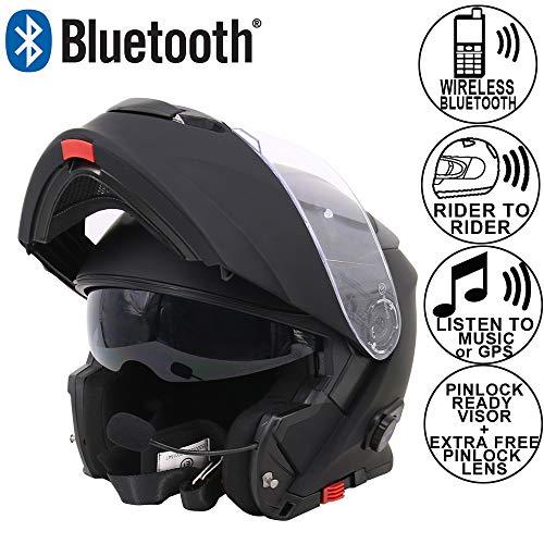 Leopard LEO-727 BL-A4 Anti-fog Visor Flip up Motorbike Bluetooth Helmet...