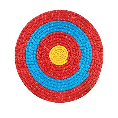 perfecthome Zielscheibe Bogenschießen,50x50cm Runde Bogenschießziel Strohscheibe Coiled Archery Straw Target für Freiensport Bogenschießen,Bogensport, Pfeil Bogen