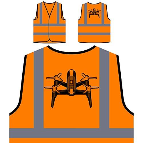 Piloto De Cámara Drone Chaqueta de Seguridad Naranja Personalizado de Alta Visibilidad r633vo
