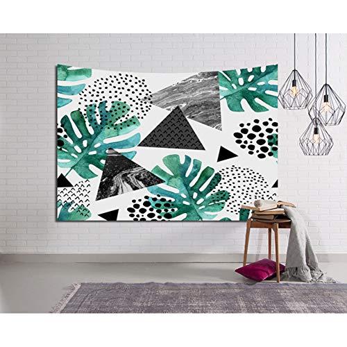 ZWBBO Tapijt, tapijt, tropische planten, musa varen, verlaat, wanddecoratie, deken, slaapkamer, decoratieve gordijnstof, schilderij (150 x 200 cm)