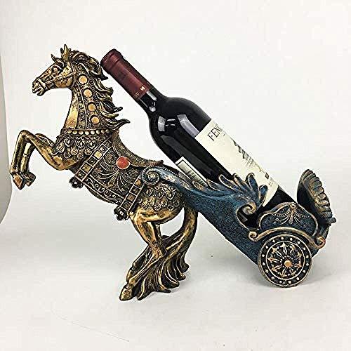 CAIJINJIN estante del vino real botellero caballo salón de decoración europea gabinete del vino vino gabinete pantalla del escritorio decoración de interiores de resina se destacan las decoraciones de