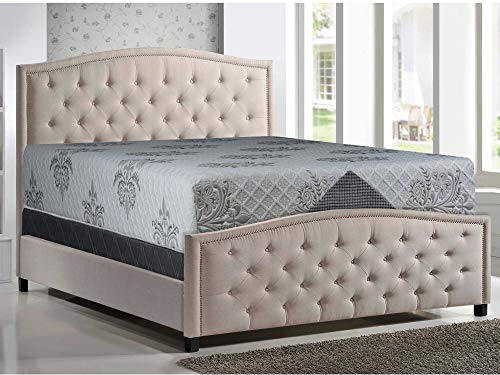 For Sale! Mattress Solution Bed Mattress, King, Gray/White