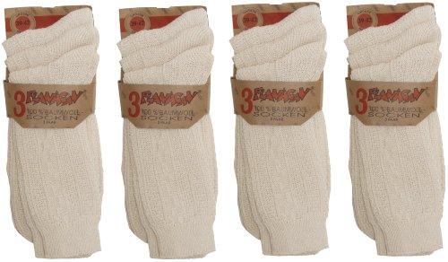 FLANAGAN Herren oder Damen Biosocken oder Jeanssocken 100% Baumwolle 12 Paar
