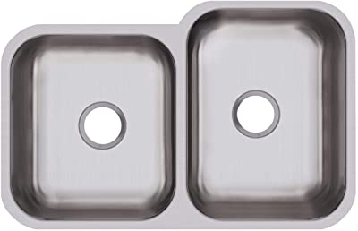Dayton DCFU312010L Offset Double Bowl Undermount Stainless Steel Sink