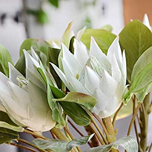 Artificial and Dried Flower 1Pc King Protea Artificial Flower Fake Plant DIY Wedding Bouquet Party Decor Fashion