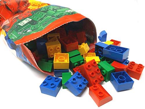 Modbrix Bolsa de 150 bloques de construcción grandes, diferentes formas y colores, compatible con otros bloques de construcción conocidos.