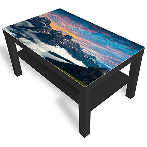 Ikea Table d'appoint en verre avec plateau en verre Dolomite