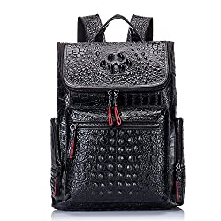 top rated Boshihorial leather laptop backpack fashionable travel bag men's (crocodile pattern) 2021