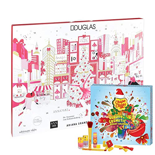 Douglas Beauty Adventskalender New York 2019 Beautykalender ter waarde van € 200 + Chupa Chups Adventskalender