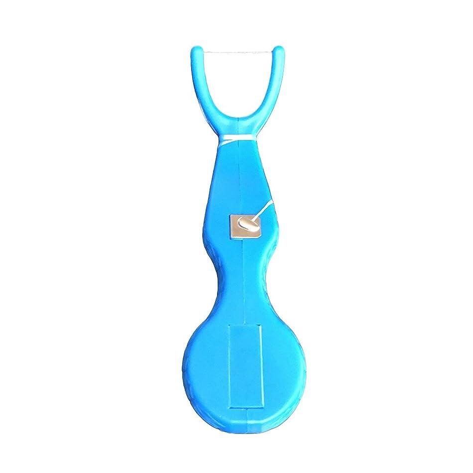 主に昇る水族館HEALLILY デンタルフロスは使い捨ての歯のクリーニングフロスピックは歯のクリーニングツール(ブルー)の間にスティック