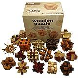 Joyeee 18 Pezzi Legno Rompicapo Torsione Cube Puzzle Game 3D - Gioco di Mente Cubo...