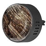CHINFY 2 unids Old Oak Wood Textura Aromaterapia Difusor Coche Clip de Ventilación 40mm Acero Inoxidable Coche Difusor Locket Ambientador