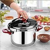 Pentola a pressione in acciaio inox e piano cottura (7 litri)