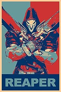 PremiumPrintsGaming - Overwatch Reaper Poster - YEXT667 Premium Canvas 11  x 17   28 cm x 43 cm