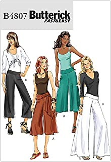 BUTTERICK PATTERNS B4807 Misses'/Misses' Petite Pants and Sash, Size EE (14-16-18-20)