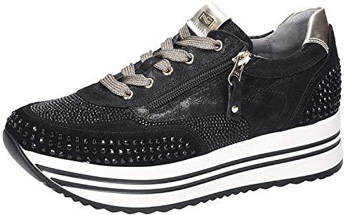 Nero Giardini Donna Sneakers Con Borchiette Nero Mod. 38