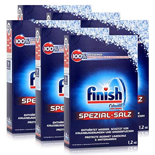 Calgonit Finish Spülmaschinen Spezial-Salz 1,2kg - Enthärtet Wasser (6er Pack)