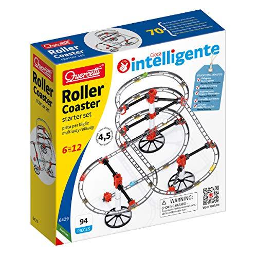 Quercetti- Roller Coaster Gioco di Costruzione, Multicolore, 6429