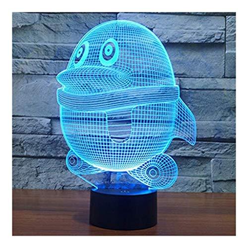 °nachtlicht 3D-Illusion Lampe Penguin Led 7 Farben Berühren USB Schlafzimmer Schreibtischlampe for Kinder Weihnachtsgeburtstag-Geschenke Spielzeug Haus Dekoration Licht