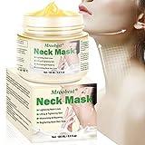 Cabra Leche Antiarrugas Máscara para el cuello Apriete de la piel Reafirmante Blanqueamiento Máscara para el cuello Crema Cuello Cuidado de la piel, antiarrugas antiedad