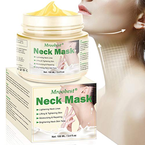 Neck Mask Cream, Neck Firming Mask, Moisturizing Neck Mask, Neck Tighten Mask, Visibly Lift and Tighten Crepey Skin, Anti Aging Moisturizer for Neck, Decollete & Body
