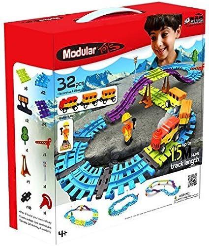 Modular Toys USA 3D Railroad Kit, 32 pcs by Modular Toys USA
