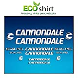 Ecoshirt M9-PP3S-MG02 Pegatinas Stickers Cuadro Frame Cannondale Scalpel Am26 Aufkleber Decals Adesivi Bike BTT MTB Cycle, Blanco