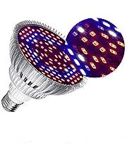 LED Kweeklamp Volledig Spectrum, E27 Kweeklamp voor Kamerplanten Groenten en Bloemen, LED Plant Gloeilamp voor Hydrocultuur Broeikasgassen Organisch, Duurzaam en Hoog Rendement