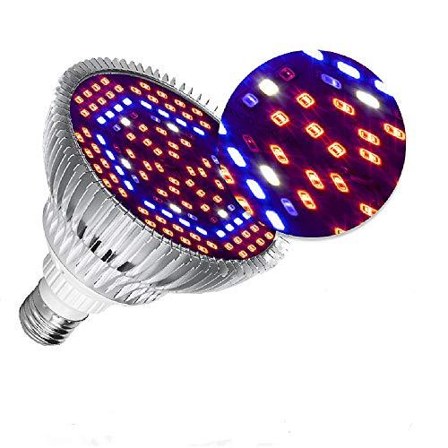 Lámparas de Crecimiento 30W,E27 Bombilla LED de Cultivo de Espectro Completo Para Plantas,Lámpara de Cultivo Para Plantas de Interior Vegetales y Flores Hidroponía