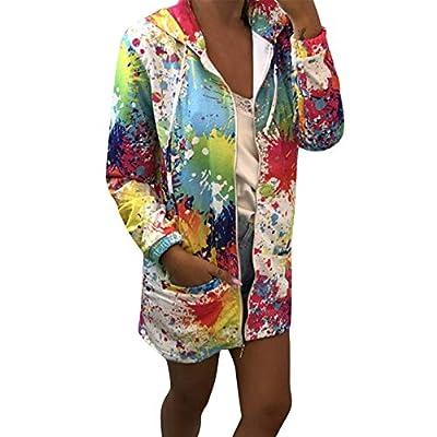 Lowprofile Graffiti Windbreaker Women Teen Girls Long Hoodie Colorful Outwear Long Sleeve Outercoat White