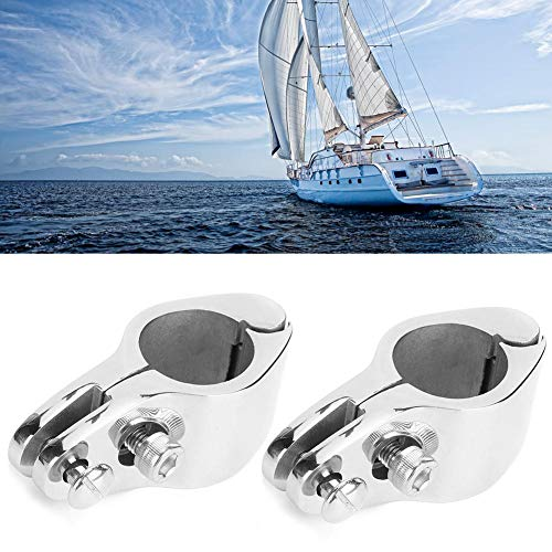 Qiilu Top Jaw Slide, 2Pcs Bimini Top Jaw Slide Clamp Steel Boat Hardware Fitting for Inflatable Commercial Yachts(25mm)