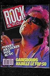 ROCK & FOLK 251 AVRIL 1988 COVER SERGE GAINSBOURG POGUES JOE COCKER INXS AC/DC POSTER JOE COCKER