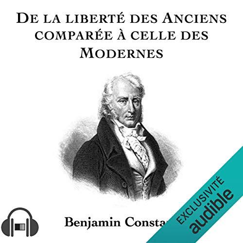 Couverture de De la liberté des anciens comparée à celle des modernes