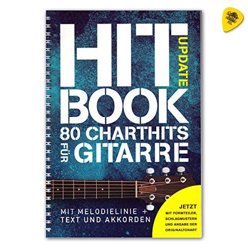 Hitbook Update - 80 Charthits für Gitarre mit Melodielinie + Text und Akkorde - Songbook mit Dunlop Plek - Verlag Bosworth BOE7887 ISBN: 9783865439826