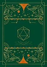 RPG journal: Mixed paper: Ruled, graph, hex: For role playing gamers: Notes, tracking, mapping, terrain plans: Vintage dar...