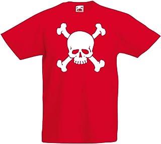 lepni.me Kinder T-Shirt Totenkopf, Warnzeichen - Nicht berühren