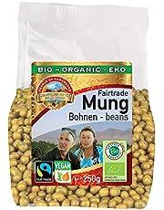 Frijoles Mungos verdes orgánicos 1,5kg ecológica, de comercio justo Fairtrade, sin gluten, germinable, ideal para brotes de soja, maravillosos frijoles aromáticos de Uzbekistán, sin OMG 6x250g