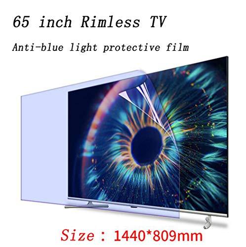 Protector de pantalla para TV de 65 pulgadas, Filtro de pantalla de protección ocular anti luz azul, Película protectora antideslumbrante, Película de filtro de pantalla antiarañazos,1440*809mm