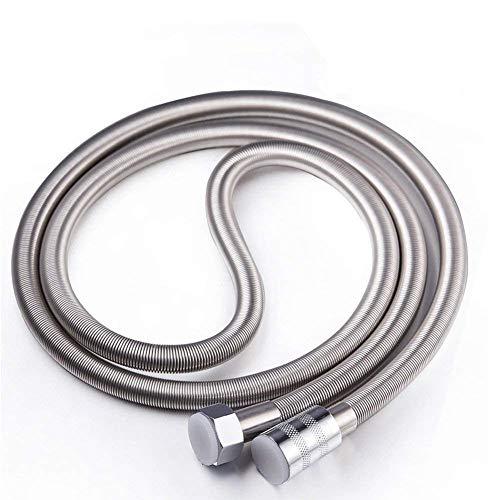 Oupukle Flessibile doccia 2,50 m, Tubo doccia in acciaio INOX, anti-nick, regolabile, cromato